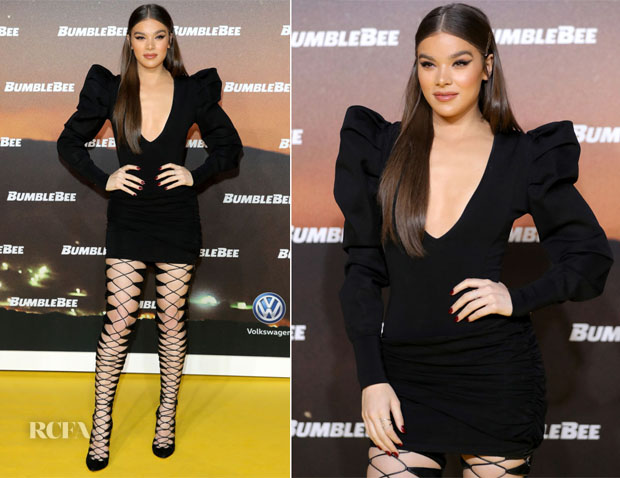 Fashion Blogger Catherine Kallon feature the Hailee Steinfeld in balmain bumblee bee milan photocall