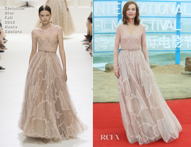 Isabelle Huppert In Christian Dior Haute Couture - 1st Hainan International Film Festival Closing Ceremony