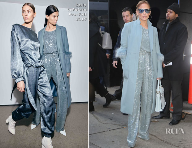 Fashion Blogger Catherine Kallon feature Jennifer Lopez In Sally LaPointe - Good Morning America
