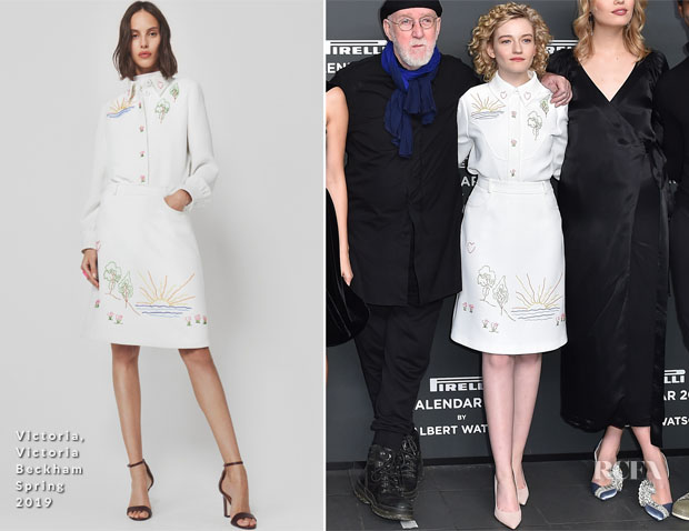 Julia Garner In Victoria, Victoria Beckham  - 2019 Pirelli Calendar Launch Press Conference