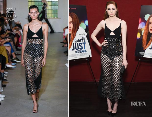 Fashion Blogger Catherine Kallon feature the Karen Gillan In David Koma 'The Party's Just Beginning' LA Screening