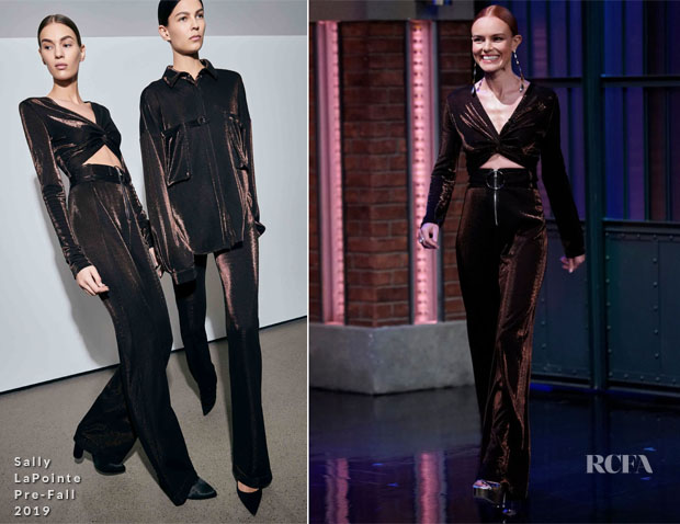 Fashion Blogger Catherine Kallon feature the Kate Bosworth in Sally LaPointe - Late Night with Seth Meyers