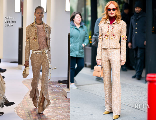 Fashion Blogger Catherine Kallon feature the Kate Bosworth in Chloe - Live with Kelly and Ryan