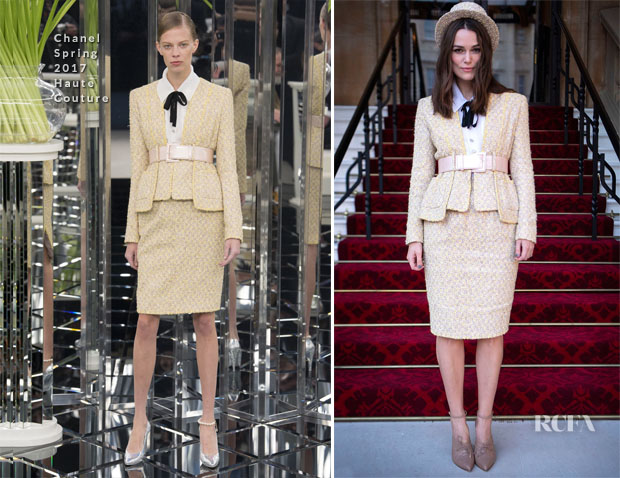 Fashion Blogger Catherine Kallon feature Keira Knightley In Chanel Haute Couture - Investitures Ceremony