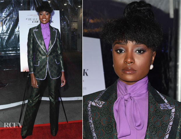 Fashion Blogger Catherine Kallon feature the KiKi Layne In Gucci - 'If Beale Street Could Talk' LA Screening