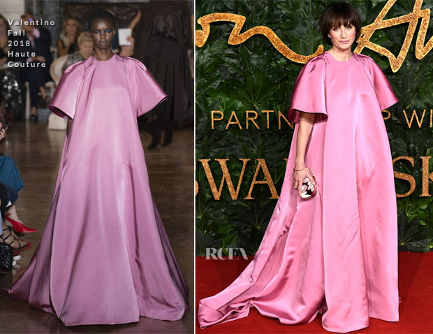 Fashion Blogger Catherine Kallon feature Kristin Scott Thomas In Valentino Hauture Couture - The Fashion Awards 2018