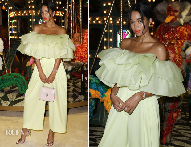 Fashion Blogger Catherine Kallon feature the Laura Harrier In Marc Jacobs - Art Basel Miami Beach 2018