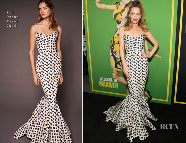 Fashion Blogger Catherine Kallon feature Leslie Mann In Zac Posen - 'Welcome To Marwen' LA Premiere