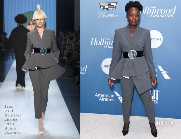 Fashion Blogger Catherine Kallon feature the Lupita Nyong'o In Jean Paul Gaultier Haute Couture - The Hollywood Reporter's Power 100 Women In Entertainment