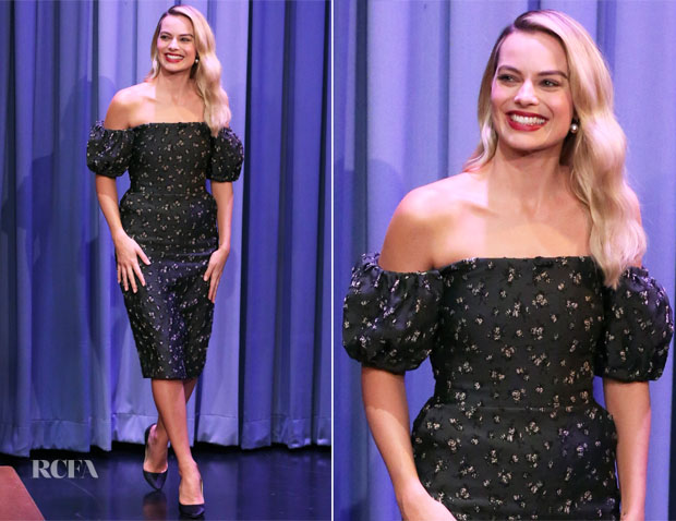 Fashion Blogger Catherine Kallon feature the Margot Robbie In Brock Collection - 'Mary Queen Of Scots' New York Promotion Tour