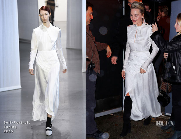 Fashion Blogger Catherine Kallon feature the Margot Robbie In Chanel, Brock Collection & Self-Portrait - 'Mary Queen Of Scots' New York Promotion Tour