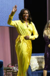 Fashion Blogger Catherine Kallon features Michelle Obama In Balenciaga & Balmain - 'Becoming' Book Tour