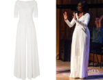 Michelle Obama's Emilia Wickstead Belted Cloqué Jumpsuit