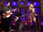 Fashion Blogger Catherine Kallon features Miley Cyrus & Mark Ronson In Saint Laurent - SNL