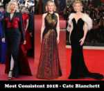 Most Consistent 2018 - Cate Blanchett