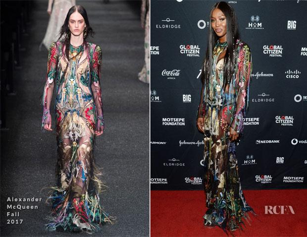 Fashion Blogger Catherine Kallon feature the Naomi Campbell In Alexander McQueen - Global Citizen Festival: Mandela 100
