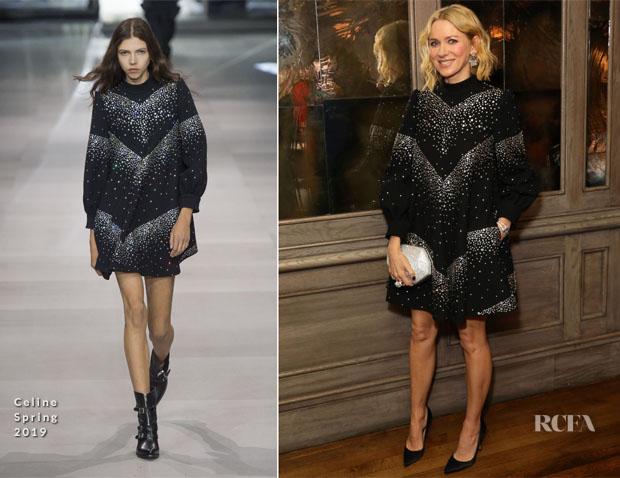 Fashion Blogger Catherine Kallon feature Naomi Watts In Celine - Swarovski Dinner