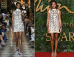 Fashion Blogger Catherine Kallon feature Naomie Harris In Miu Miu - The Fashion Awards 2018