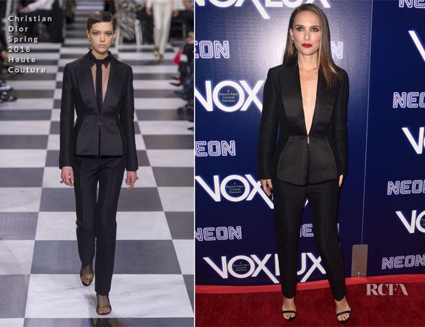 Fashion Blogger Catherine Kallon feature the Natalie Portman In Christian Dior Haute Couture - 'Vox Lux' LA Premiere