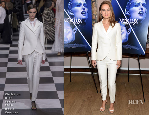 Fashion Blogger Catherine Kallon feature Natalie Portman In Christian Dior Haute Couture - 'Vox Lux' New York Screening