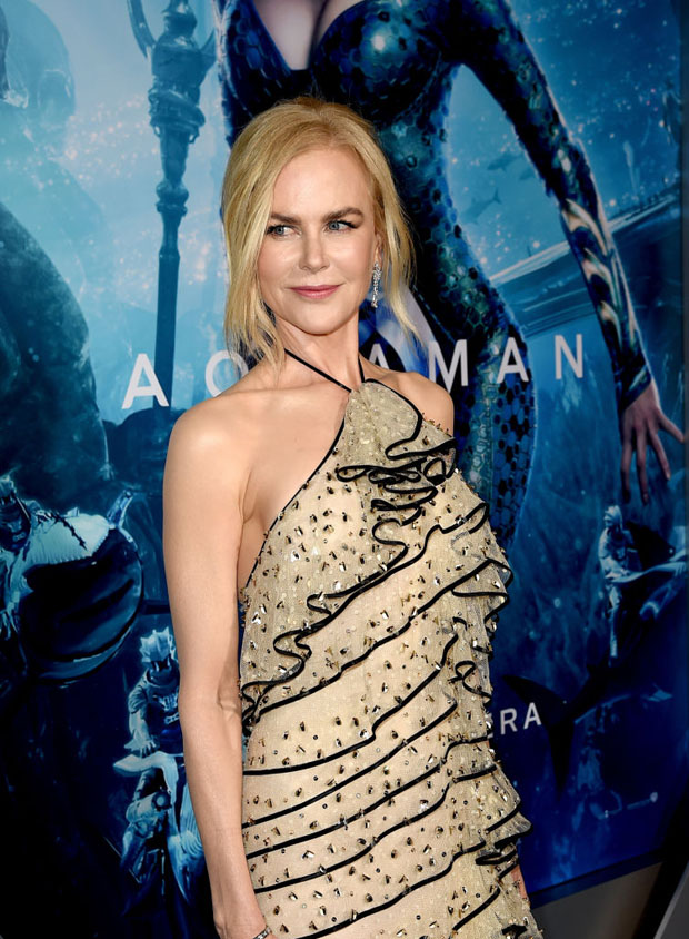 Fashion Blogger Catherine Kallon feature Nicole Kidman In Armani Prive - 'Aquaman' LA Premiere