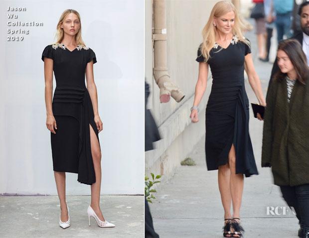 Fashion Blogger Catherine Kallon feature Nicole Kidman In Jason Wu - Jimmy Kimmel Live!