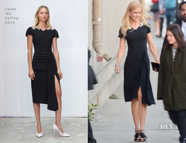 Fashion Blogger Catherine Kallon feature Nicole Kidman In Jason Wu - Jimmy Kimmel Live!