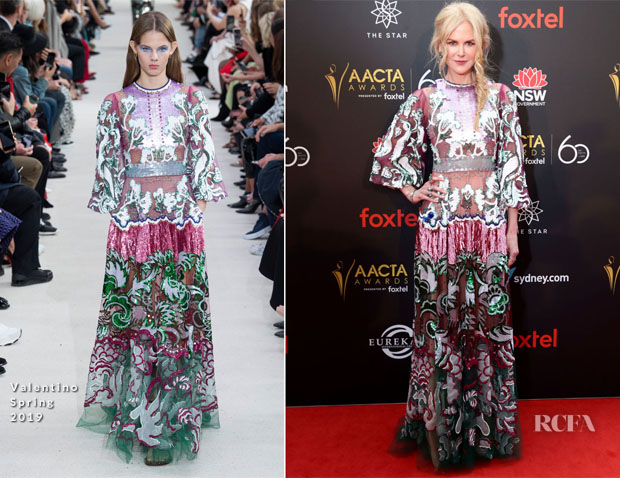 Fashion Blogger Catherine Kallon feature the Nicole Kidman In Valentino - 2018 AACTA Awards