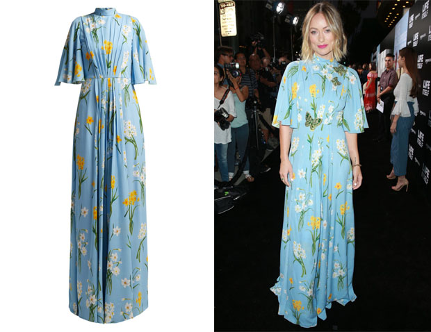 Olivia Wilde's Andrew Gn Narcissus-Print Dress