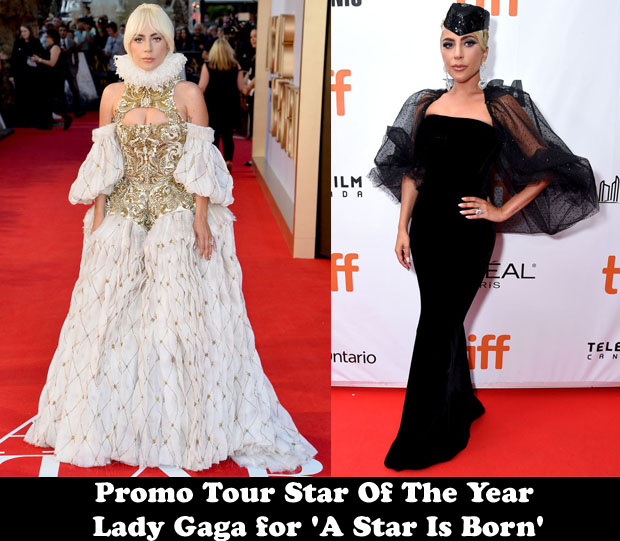 Best Promo Tour Star Of The Year - Lady Gaga for 'A Star Is Born'