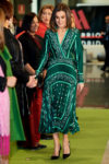 Fashion Blogger Catherine Kallon features Queen Letizia of Spain Attends The Closure Of AFAMMER International Congress In Sandro