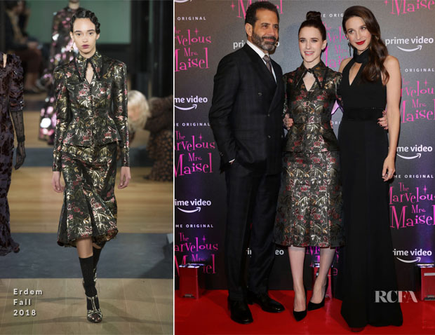 Fashion Blogger Catherine Kallon feature the Rachel Brosnahan In Erdem & Marin Hinkle In Vatanika - 'The Marvelous Mrs. Maisel' Season 2 Milan Premiere