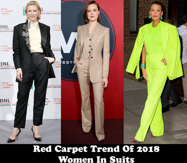 Fashion Blogger Catherine Kallon Features Red Carpet Trend Of 2018 - Women In Suits