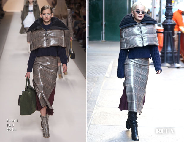 Fashion Blogger Catherine Kallon features Rita Ora In Fendi - Out In New York City 'Phoenix'