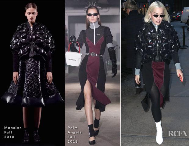Fashion Blogger Catherine Kallon features Rita Ora In Fendi in Palm Angels + Moncler 6 Noir Kei Ninomiya out in New York 'Phoenix'