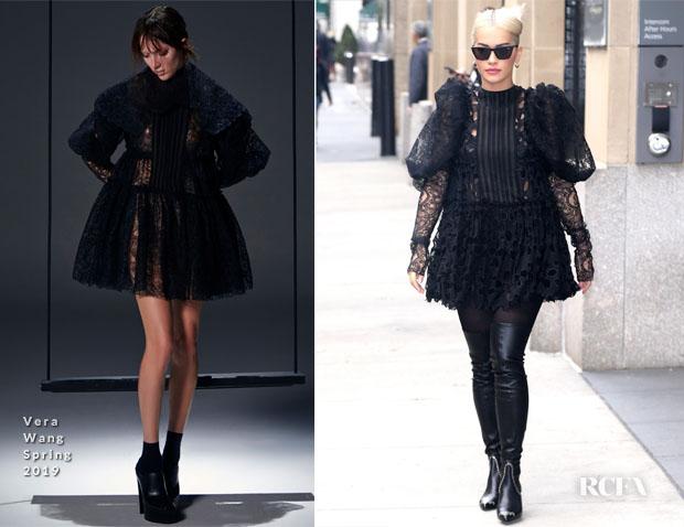 Fashion Blogger Catherine Kallon features Rita Ora In Vera Wang - Hearst Magazine Building 'Phoenix'
