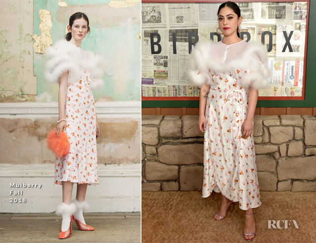 Fashion Blogger Catherine Kallon Features Rosa Salazar In Mulberry - 'Bird Box' New York Screening
