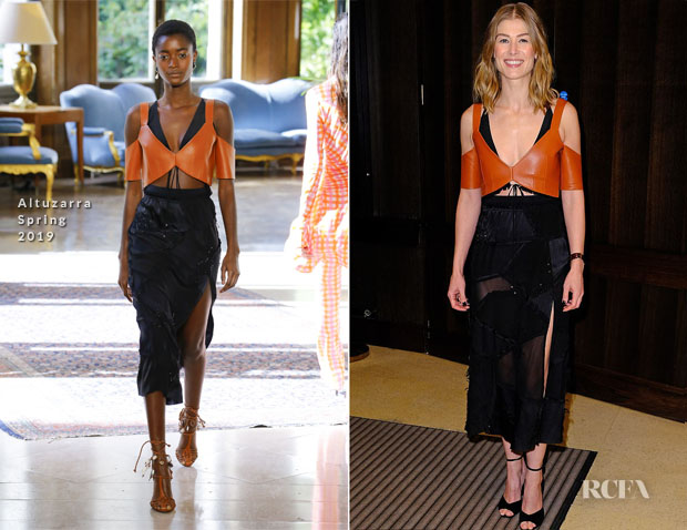 Fashion Blogger Catherine Kallon feature Rosamund Pike In Altuzarra - 'A Private War' Special Screening