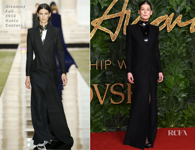Fashion Blogger Catherine Kallon feature Rosamund Pike In Givenchy Haute Couture - The Fashion Awards 2018