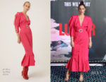 Fashion Blogger Catherine Kallon feature Ruth Wilson In Attico - 'Luther' London Photocall