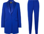 Sandra Bullock Akris blue suit