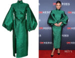Shay Mitchell's Camilla and Marc Metallic Lurex Dress