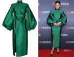 Shay Mitchell's Camilla and Marc Metallic Lurex Dress