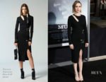 Fashion Blogger Catherine Kallon Features Taissa Farmiga In Versus Versace - 'The Mule' LA Premiere