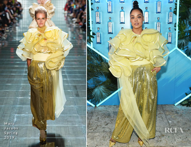 Fashion Blogger Catherine Kallon feature the Tessa Thompson In Marc Jacobs - 9th Annual Bombay Sapphire Artisan Series Finale