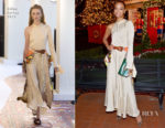 Fashion Blogger Catherine Kallon feature Zoe Saldana In Chloe - Tamara Mellon Palisades Village Opening Party