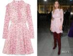 Adele Exarchopoulos' Giambattista Valli Ruffled Floral-Print Dress
