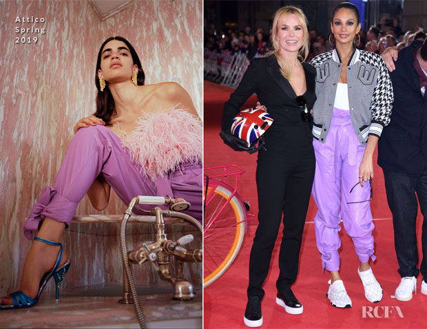 Fashion Blogger Catherine Kallon features Alesha Dixon In Off-White & Attico - Britain's Got Talent 2019 Photocall