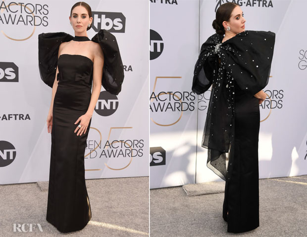 Fashion Blogger Catherine Kallon features Aja Alison Brie In Miu Miu - 2019 SAG Awards