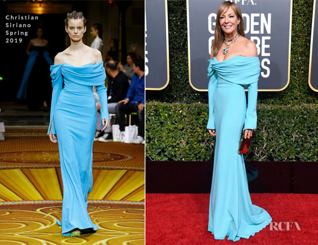 Fashion Blogger Catherine Kallon features Allison Janney In Christian Siriano - 2019 Golden Globe Awards